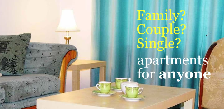 Family?  Couple?  Single?  Apartments for anyone